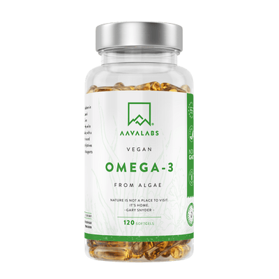 VEGAN OMEGA 3 FROM ALGAE - 100% PLANT-BASED & PURE