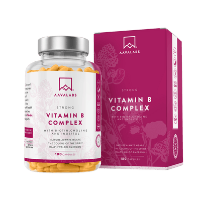STRONG VITAMIN B COMPLEX WITH BIOTIN, CHOLINE AND INOSITOL - Aava Labs