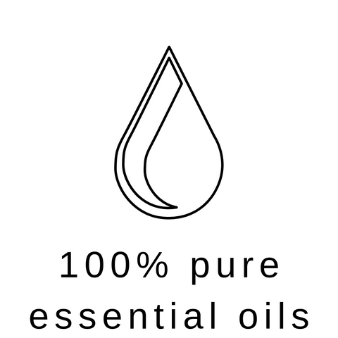 100% pure essential oils benefit symbol