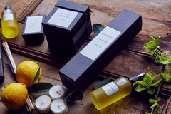 Lemon Verbena collection of refreshing home fragrances