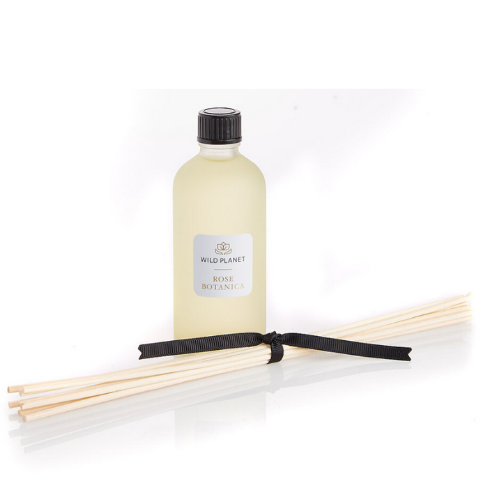 ose Botanica natural diffuser refill with reed sticks tied with ribbon by Wild Planet Products