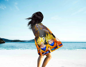 Microfiber Beach Towel- Dragon Ball Goku Mastered Ultra Instinct Beach Towel Two Sides Printed V3