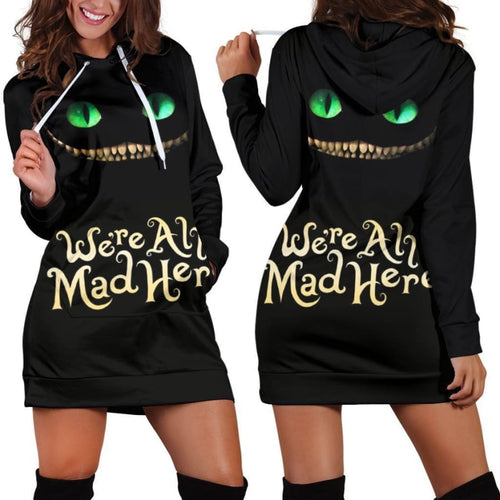 Cheshire Cat Alice In Wonderland Hoodie Dress