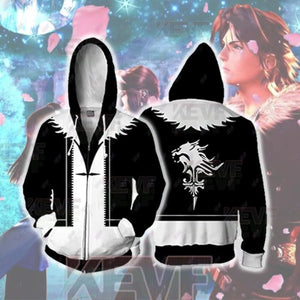 Final Fantasy Hoodies - Squall Leonhart Cosplay Zip Up Hoodie - Zip Up Hoodie / XS - hoodie
