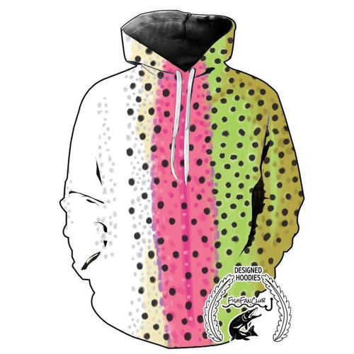 Fishing Hoodies - 3D Print Unisex Hoodie - Rainbow Trout Color