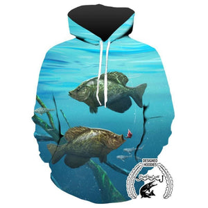 Fishing Hoodies - 3D Print Unisex Pull Over Hoodies - Two Crappies