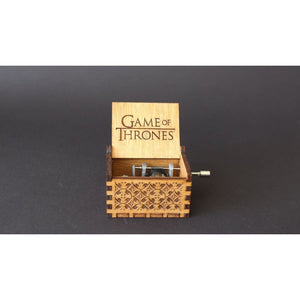Game of Thrones Engraved Wooden Music Box - music box