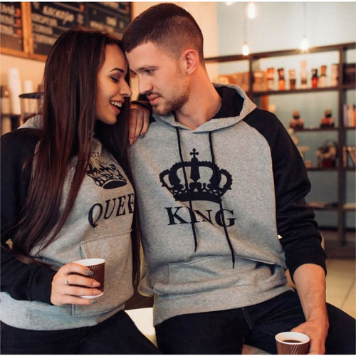 Matching Couple Hoodies - Heather King Queen Hoodies