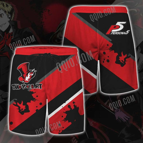 Persona 5 Take Your Heart Quick-drying Mens Shorts - M - men shorts