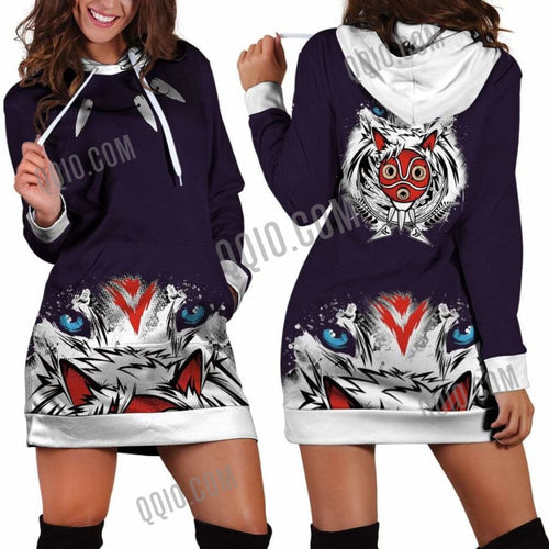 princess_mononoke_women_hoodie_dress_qqio
