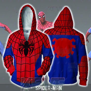 Spiderman Hoodies - Classic Spider Man Zip Up Hoodie - Zip Up Hoodie / M - hoodie