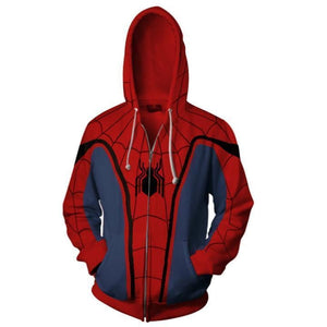 Spiderman Hoodies - Spider Man 3D Zip Up Hoodie