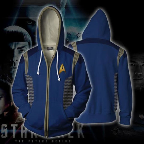 884279f514 Star Trek Hoodies - Star Trek Discovery Zip Up Hoodie