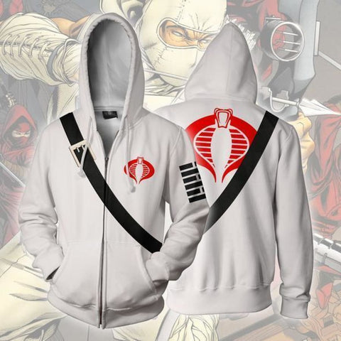 3aa5286eb4 Storm Shadow Hoodies - Storm Shadow G.I.JOE Cosplay Zip Up Hoodie