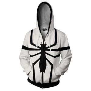 Venom Hoodies - Anti Venom Cosplay Zip Up Hoodie