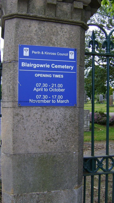 Blairgowrie Cemetery- Perthshire PDF