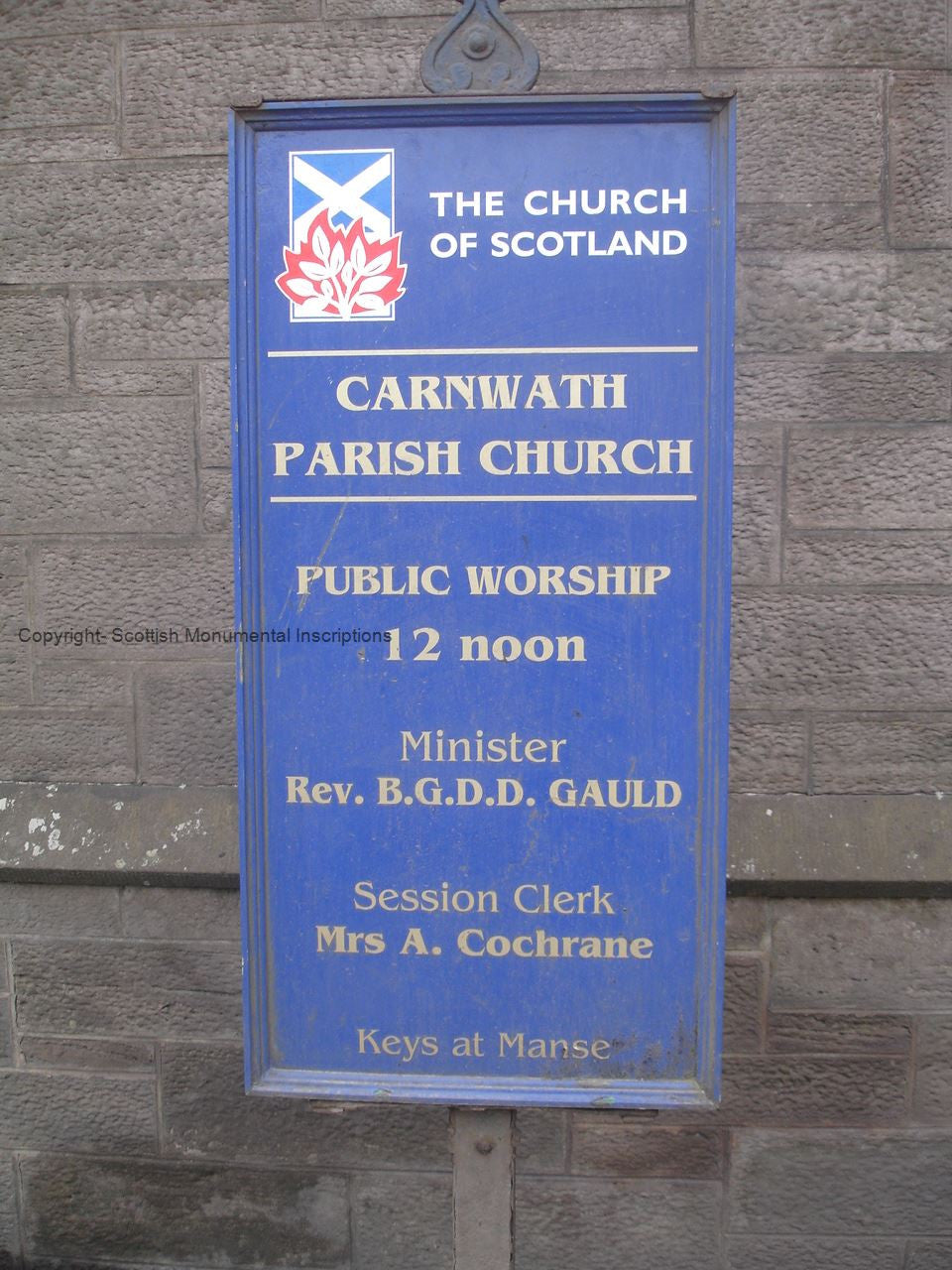 Carnwath Church- Lanarkshire PDF
