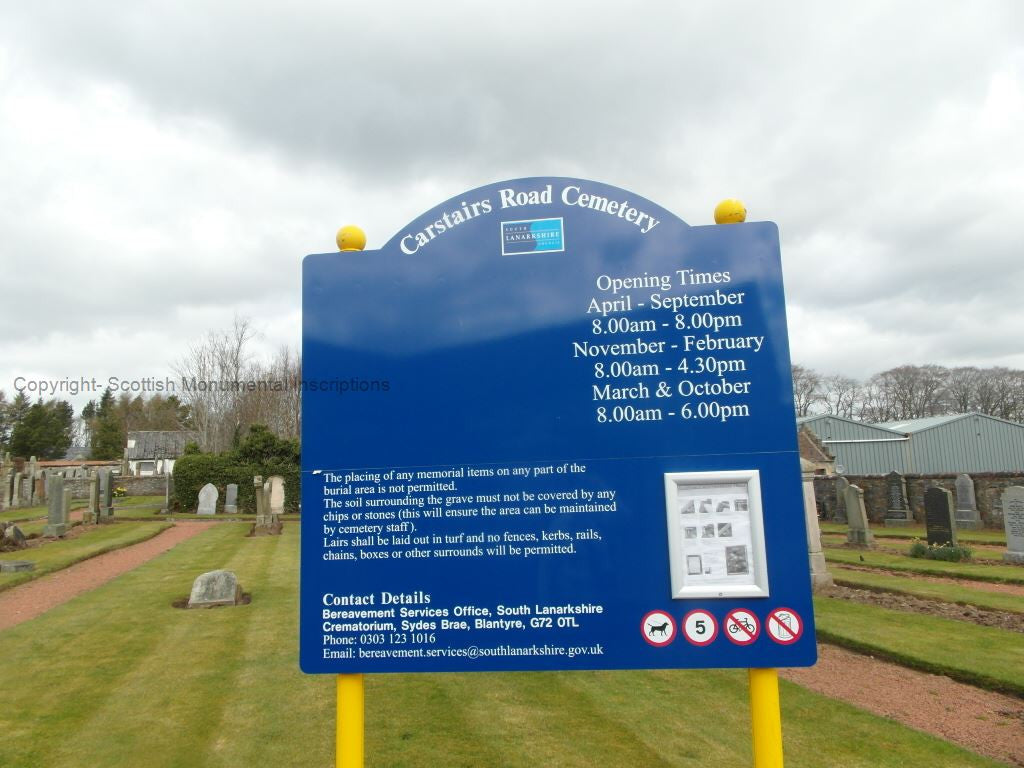Carstairs Road Cemetery- Lanarkshire PDF
