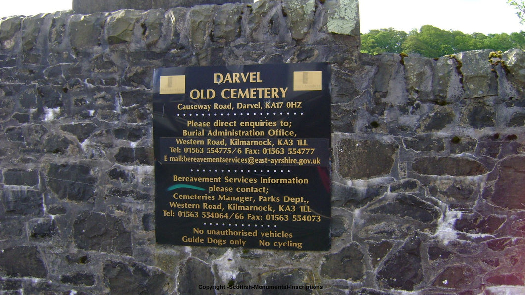 Darvel Old Cemetery - Ayrshire PDF