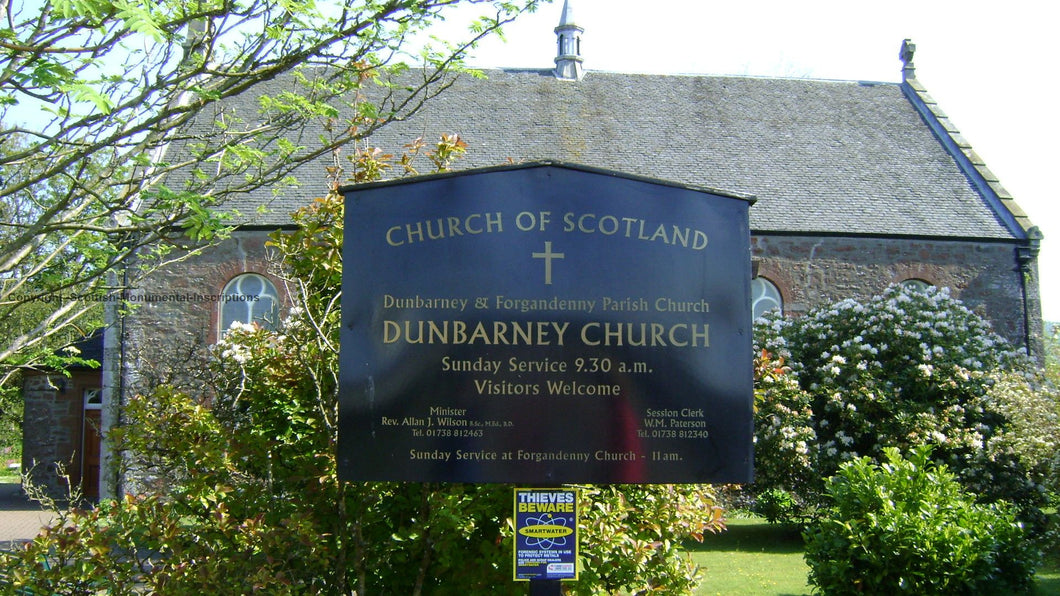 Dunbarney Church & Estate burial grounds - Perthshire PDF