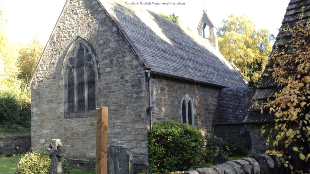 Pitlochry- Holy Trinity Church- Monumental Inscriptions- Perthshire PDF