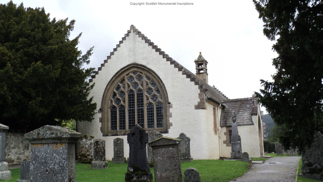 Fortingall Church Monumental Inscriptions- Perthshire PDF