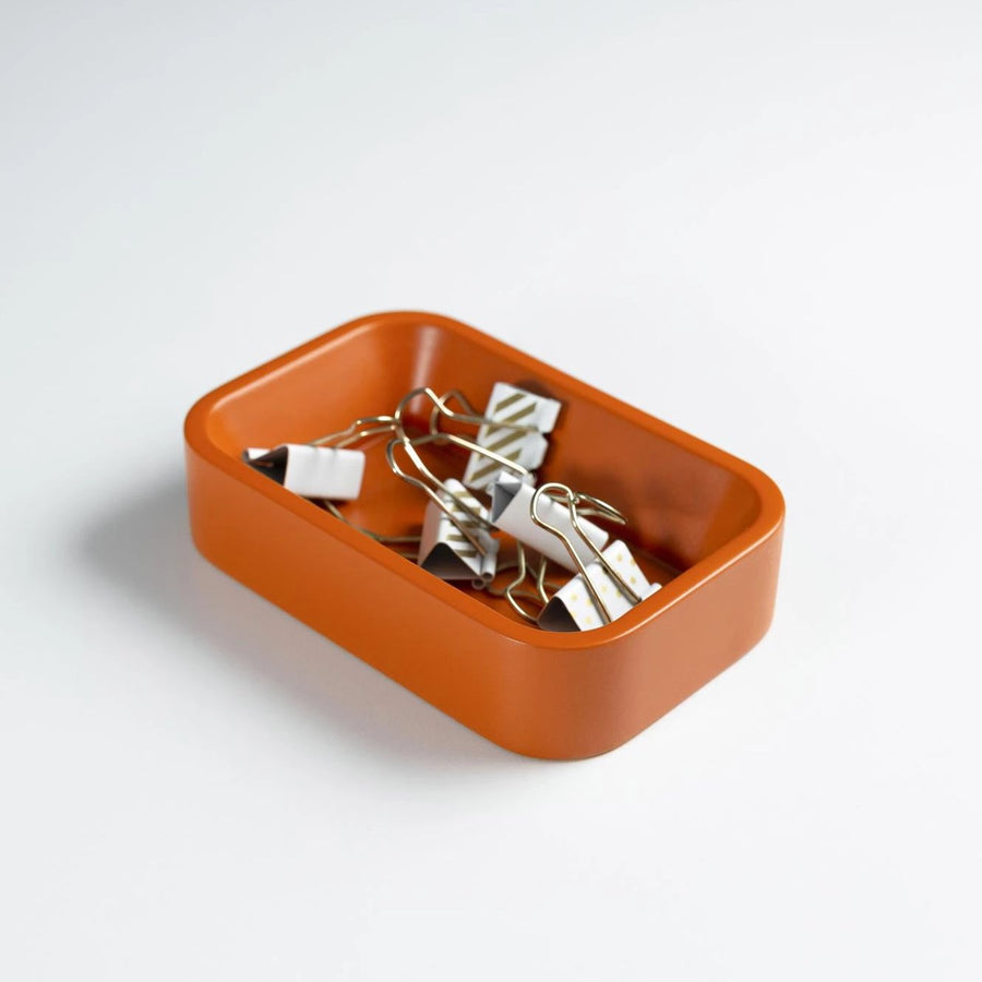 Orange Paper Clip Holder