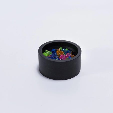 Black Round Paper Clip Holder