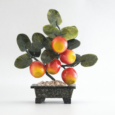 Feng Shui Crystal Apple Tree / Living Room Accessories /Decorative Glass Art/ Glass Fruits /Mindfulness Gift-Artificial Trees-iulia