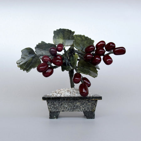 Feng Shui Crystal Grape Tree/Miscarriage Gift/Glass Art Living Room Accessories/Glass Fruits/Mindfulness Gift/Symbol of Abundance&Prosperity-Artificial Trees-iulia