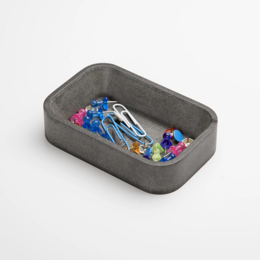 Grey Paper Clip Holder