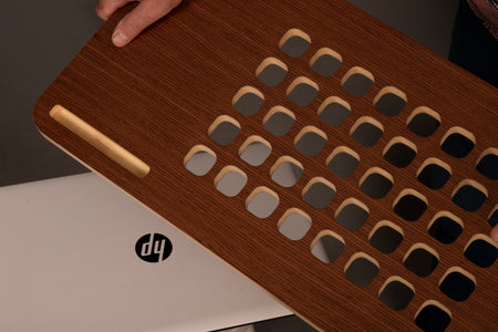 Lap Desk | Wooden Lap Tray | MacBook Tray | Lapdesk with Air Holes | Model-1
