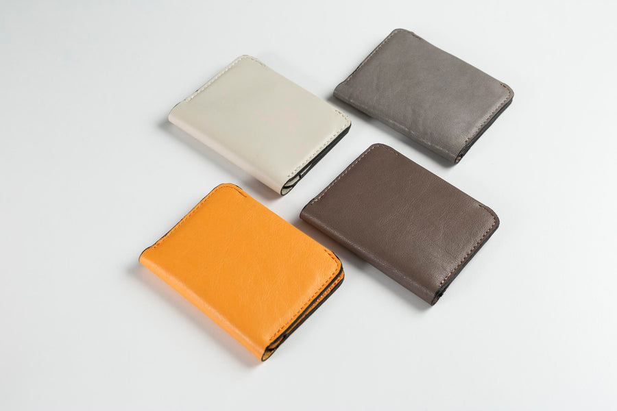 Minimalist Bifold Leather Wallet (Charcoal Grey)