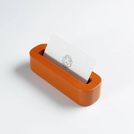 Orange Business Card Holder