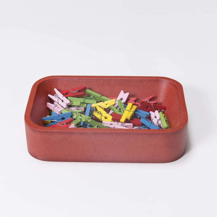 Red Paper Clip Holder