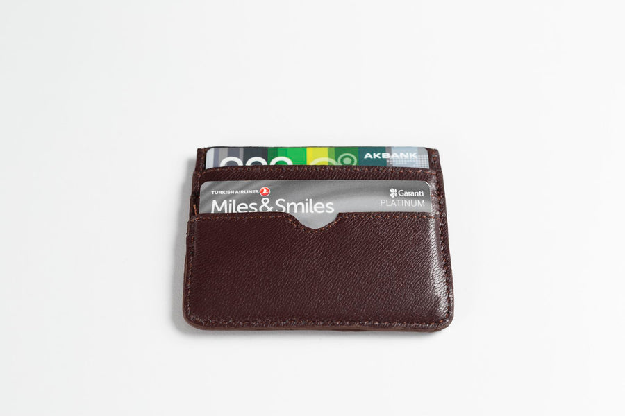 Leather Card Holder (Brown)