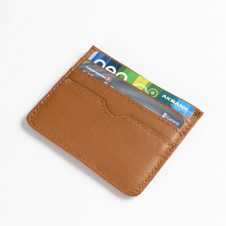 Leather Card Holder (Tan)