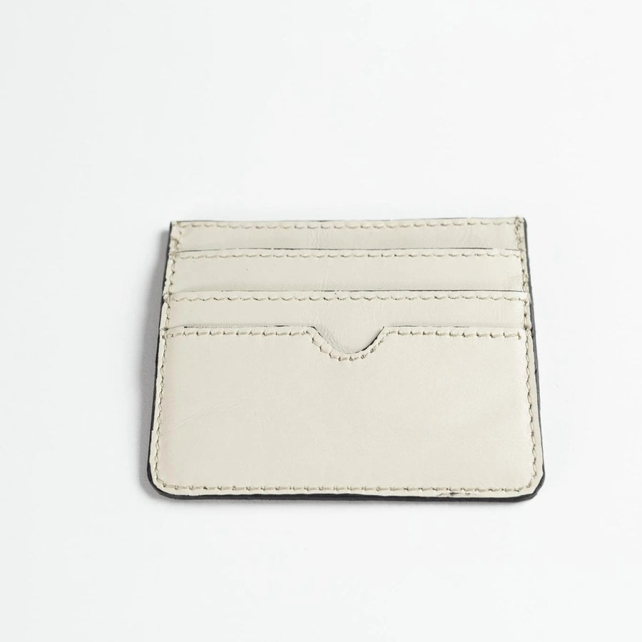 Leather Card Holder (Off-White)