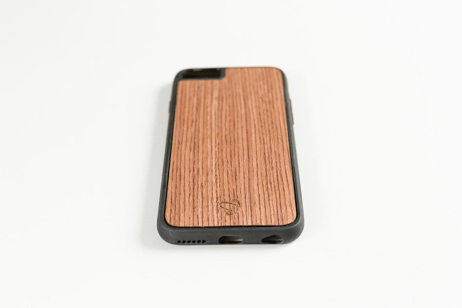 Walnut Quartered Dark Wooden iPhone Case | Wood iPhone Case | IULIA