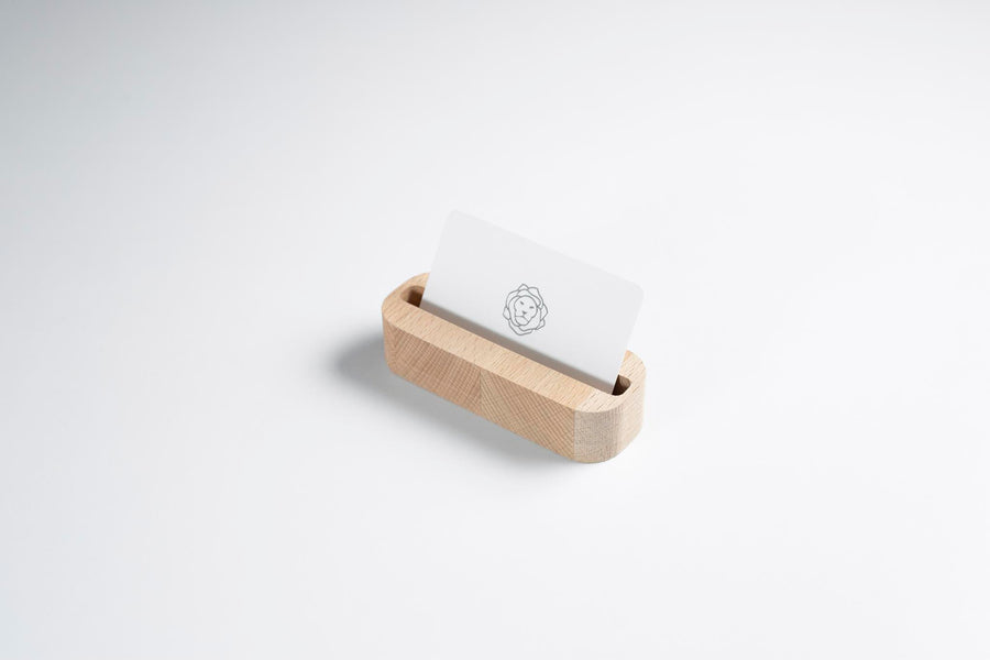 Beechwood Business Card Holder