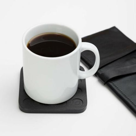 Iulia Black Circles Wood Coaster Set Black Circles Coasters Iulia