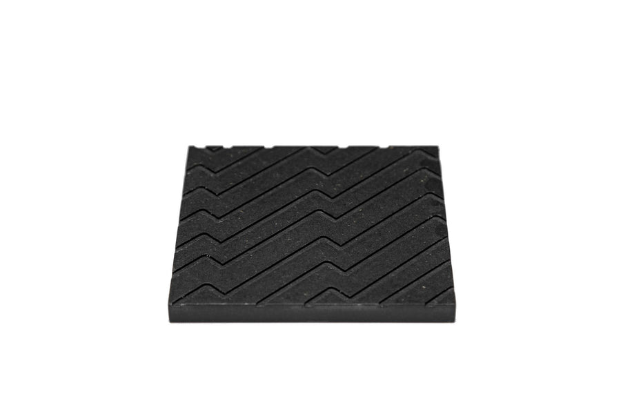Iulia Black Zigzag Wood Coaster Set Black Coasters Zigzag Iulia