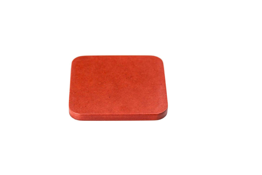 Iulia Red Wood Coaster With Cork Rubber Bottom Set Coasters Red Standard Iulia