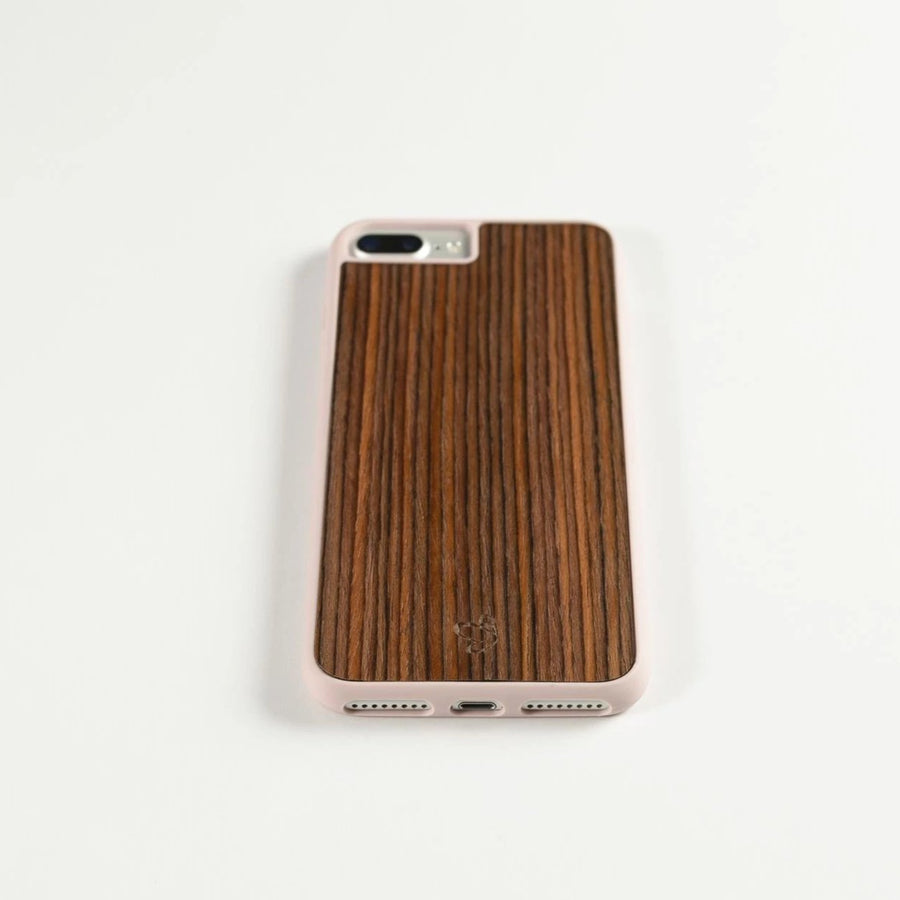 Rosewood iPhone Case with Nude Frame | Wooden iPhone Case | IULIA
