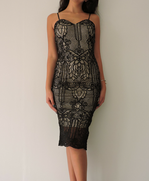 Jane Midi Lace Dress