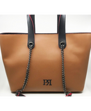 Pierro Camel Leather Tote Bag