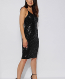 Neverland Black Sequins Bodycon Dress