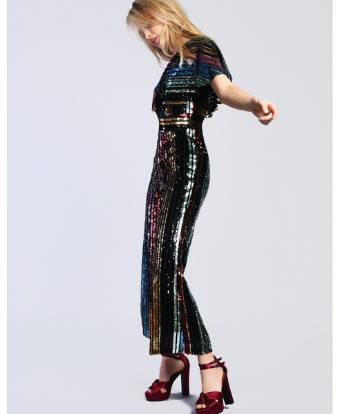 Glamorous Multi Color Sequins Jumpsuit