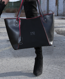 Pierro Black Leather Tote Bag