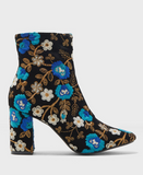 Public Desire Embroidered Floral Ankle Boots